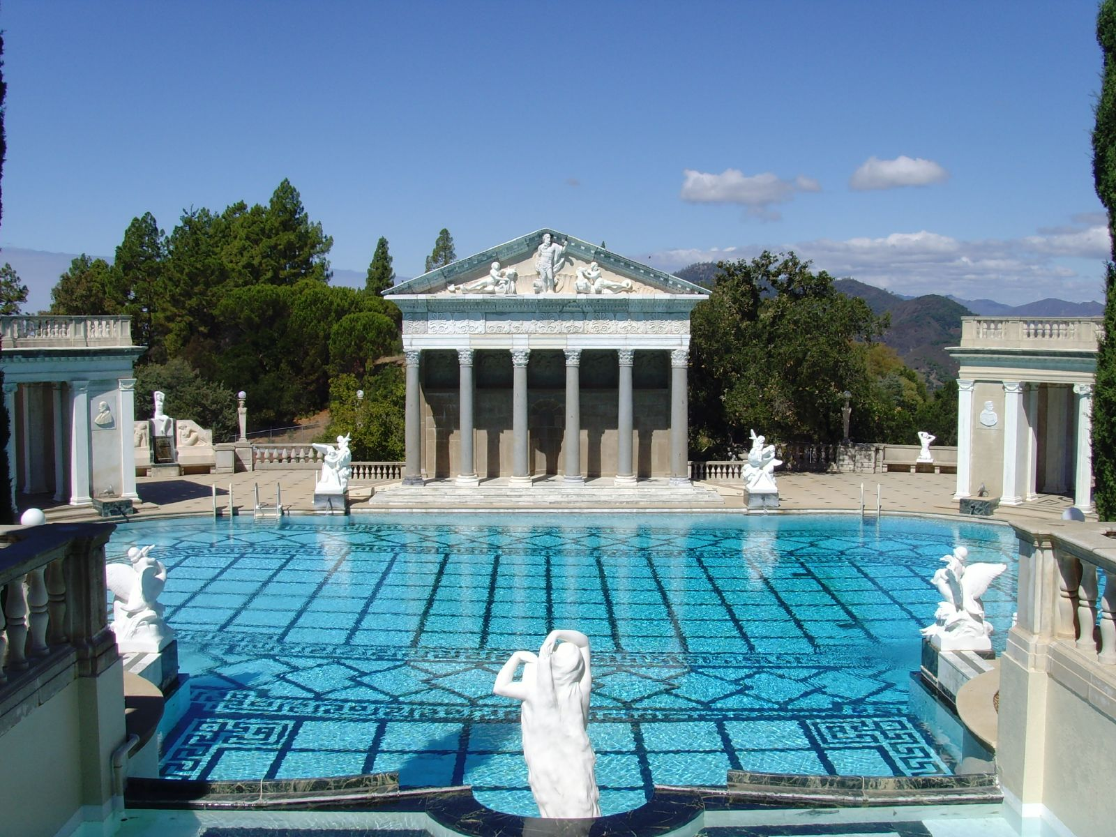 Hearst castle artona for Roman style pool design
