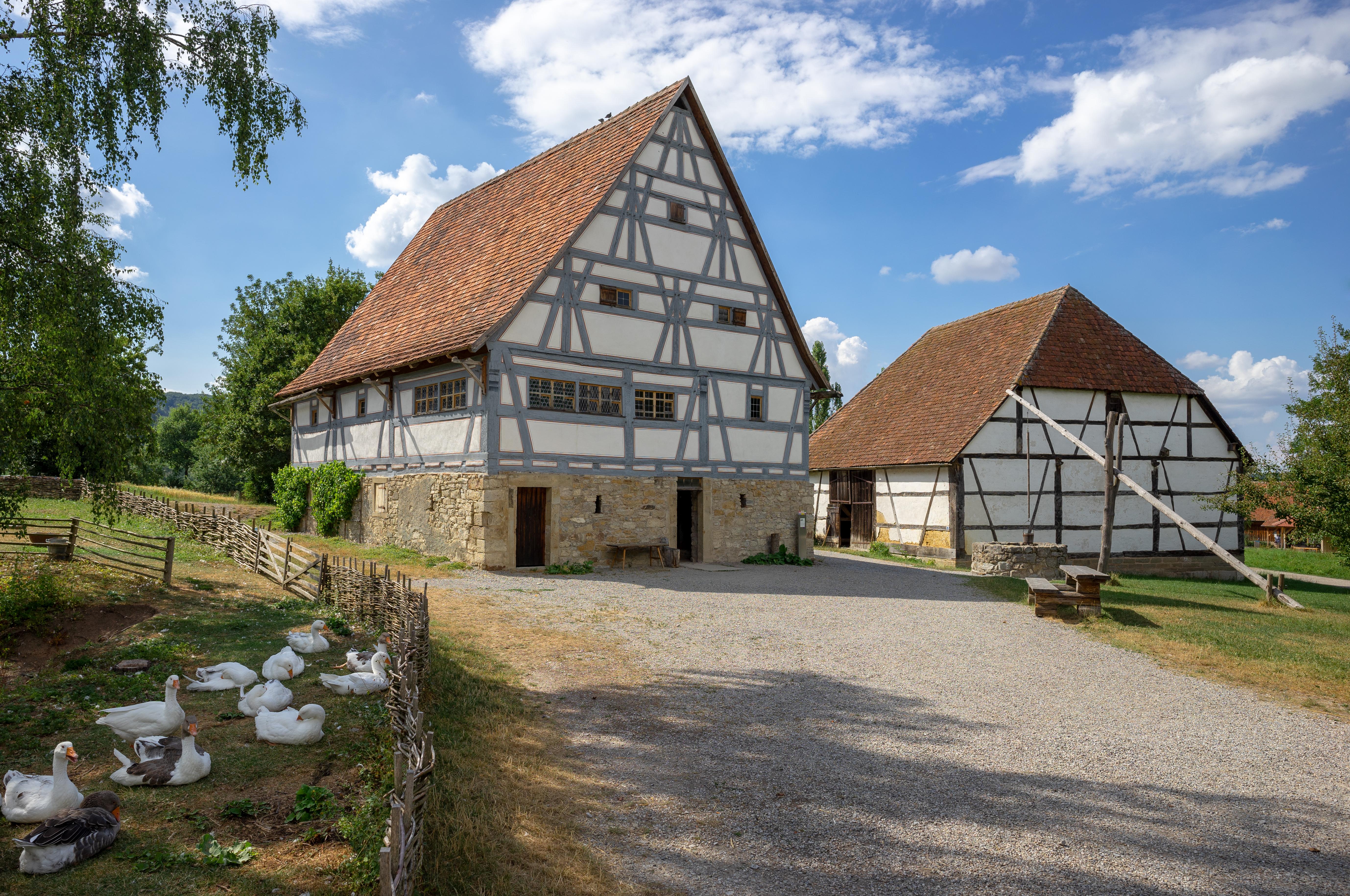 Datei Hohenloher Freilandmuseum Baugruppe Hohenloher Dorf Haus