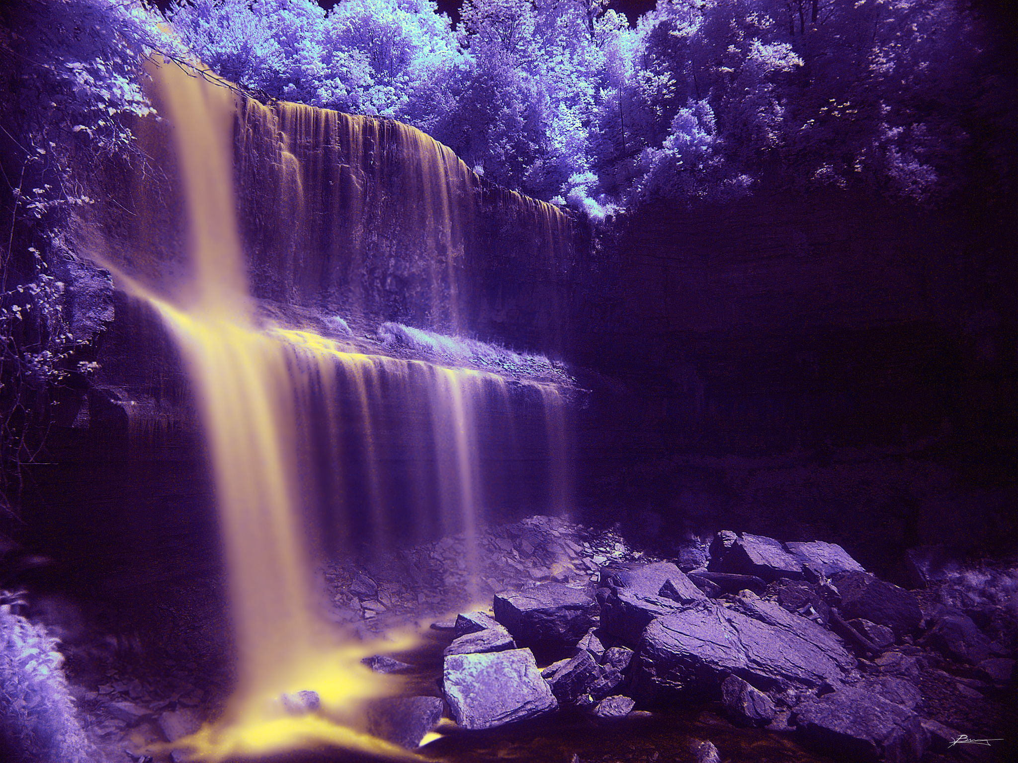 Infrared photo of Webster's Falls