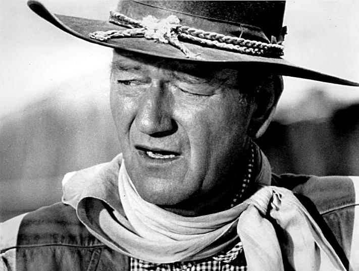 John Wayne. B/N.