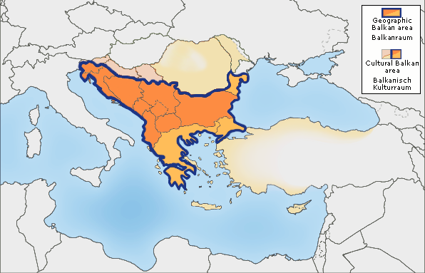 The Balkans Map Balkans   Wikipedia