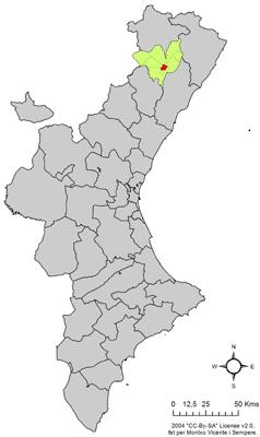Vị trí của Villar de Canes