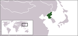 Location of Ziemeļkoreja