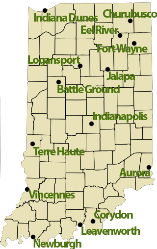 List of battles fought in Indiana