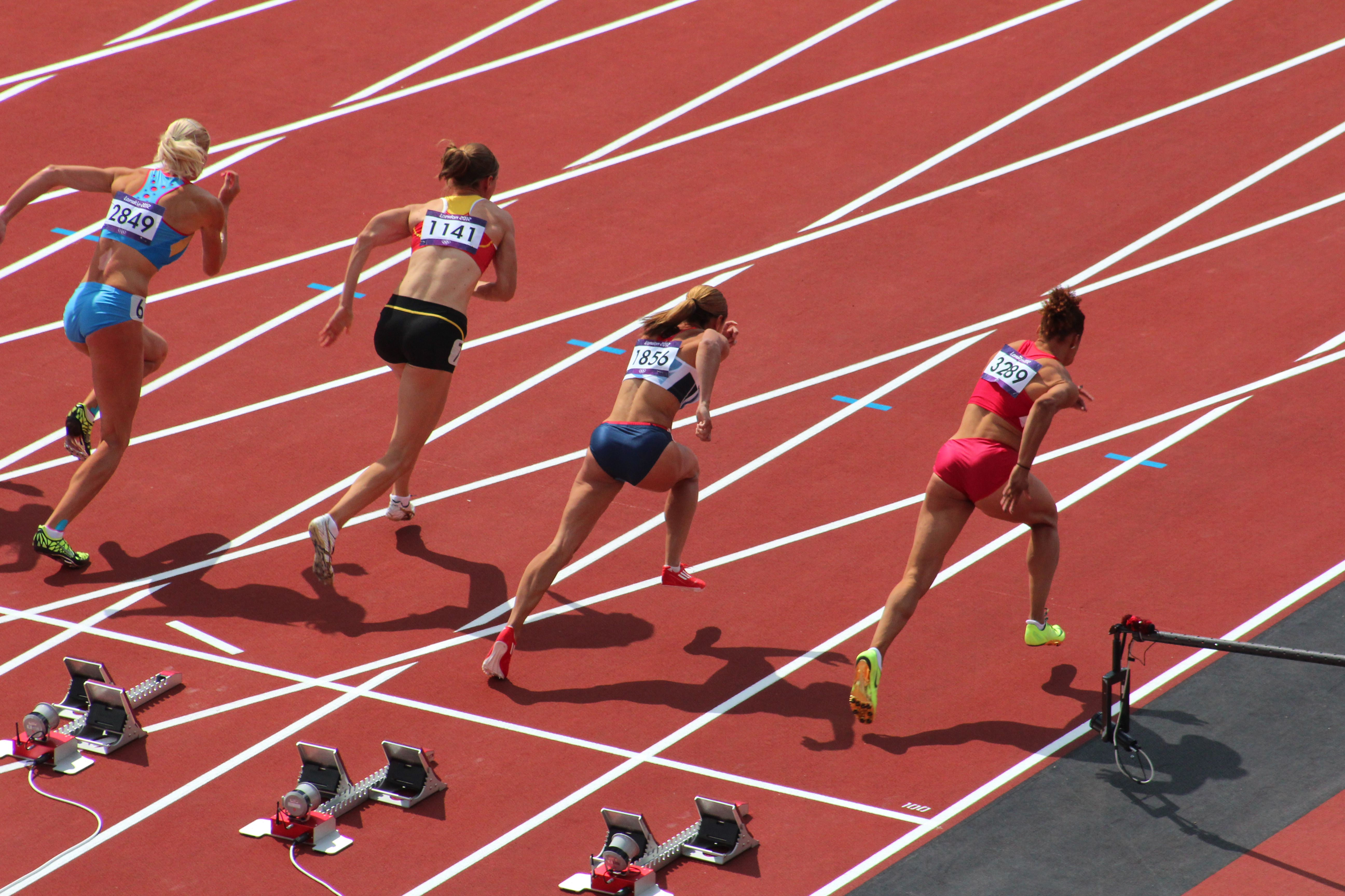 Photograph of female Olympians competing in the 2012 London Summer Olympics