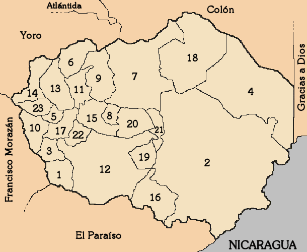 پرونده:Map-Olancho-Departament-Honduras.png