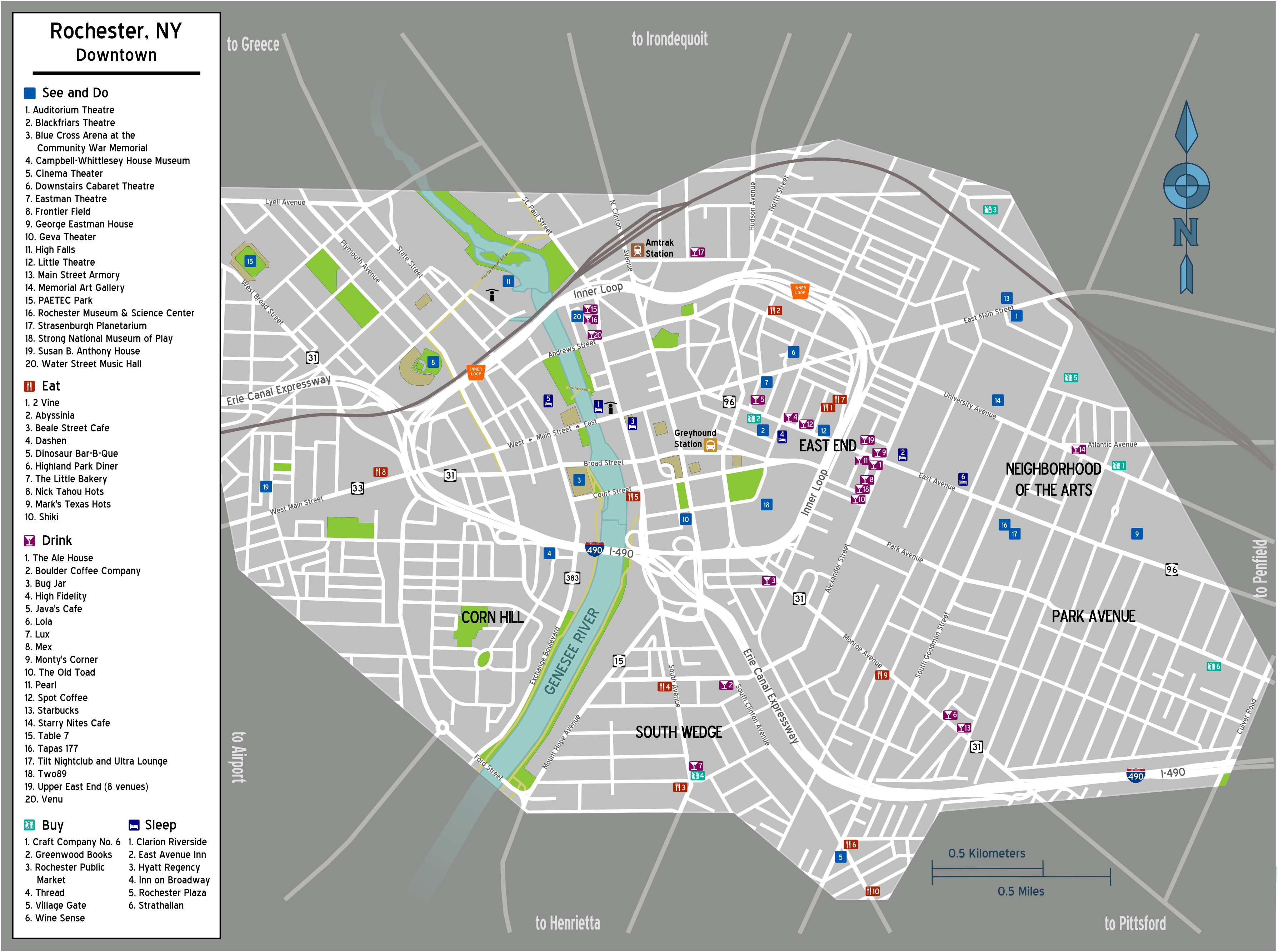 filemap rochester ny downtownpng