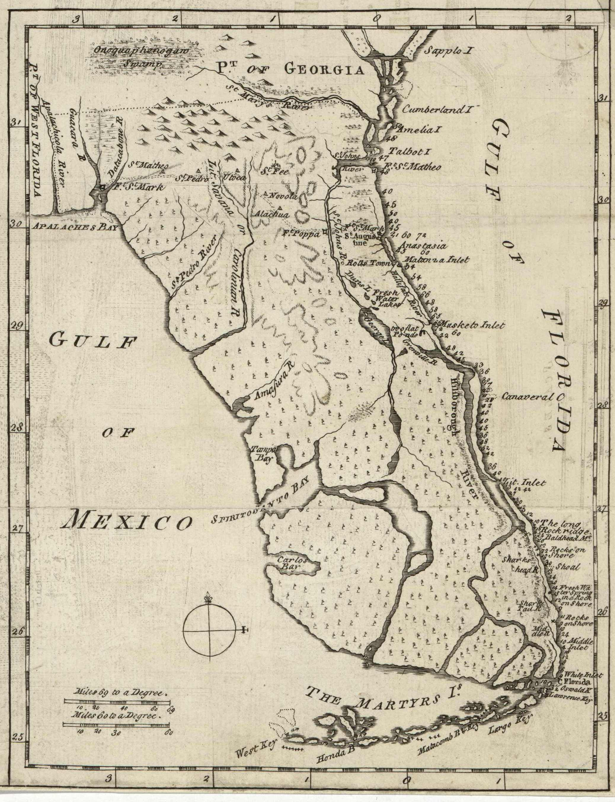 Map De Florida.File Map Of Florida By John De Solis 1764 Jpg Wikimedia Commons