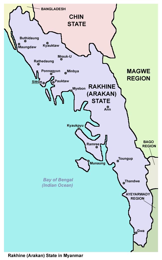 FileMap Of Rakhine Arakan State In Myanmarpng Wikimedia Commons - Where is myanmar