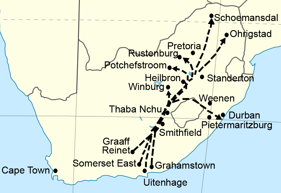 FileMap of the route of the Great Trekpng Wikimedia Commons