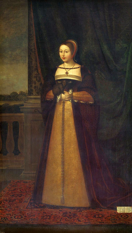 Pictură a reginei Margareta de Daniel Mytens.