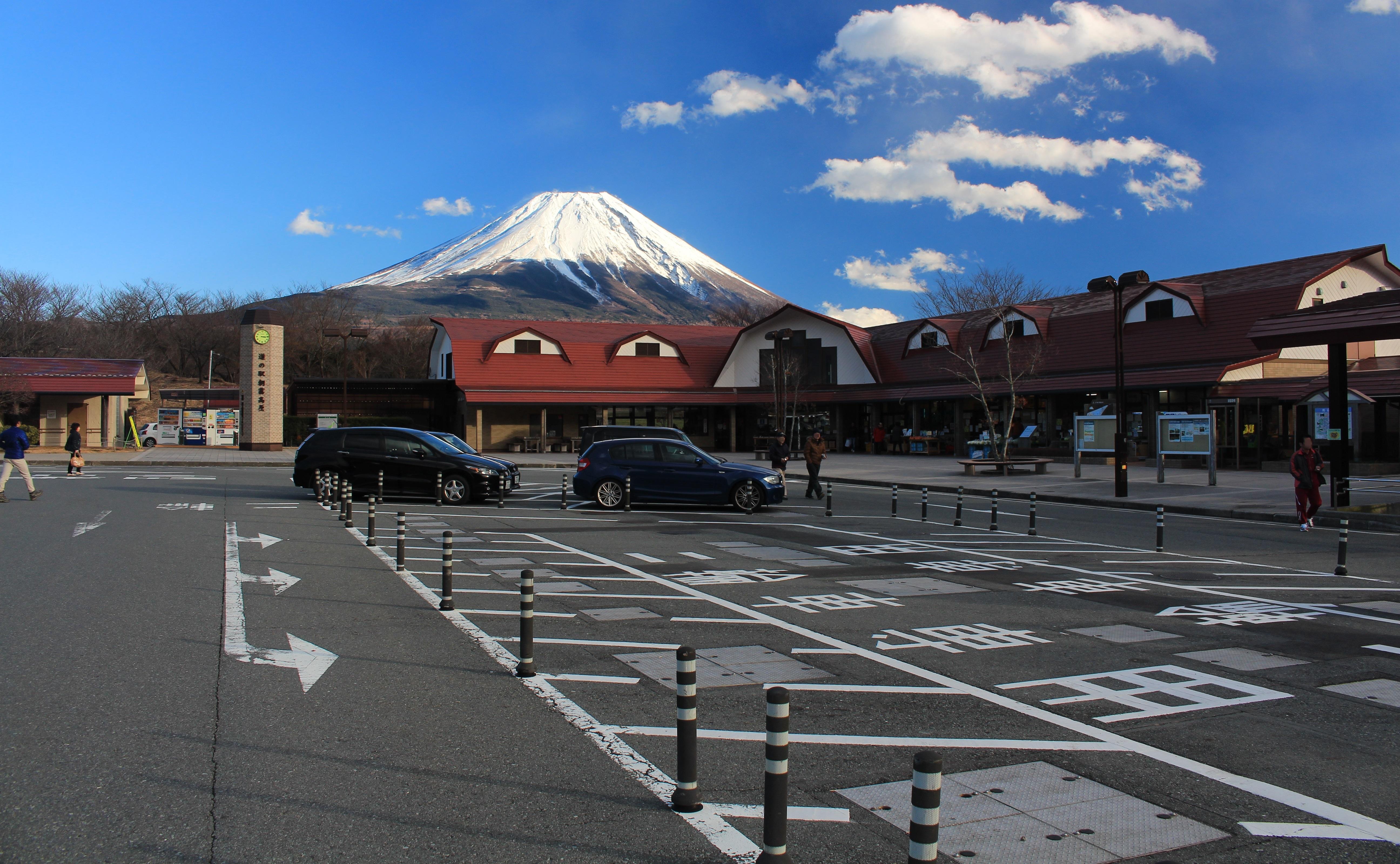 高原 駅 の 朝霧 道