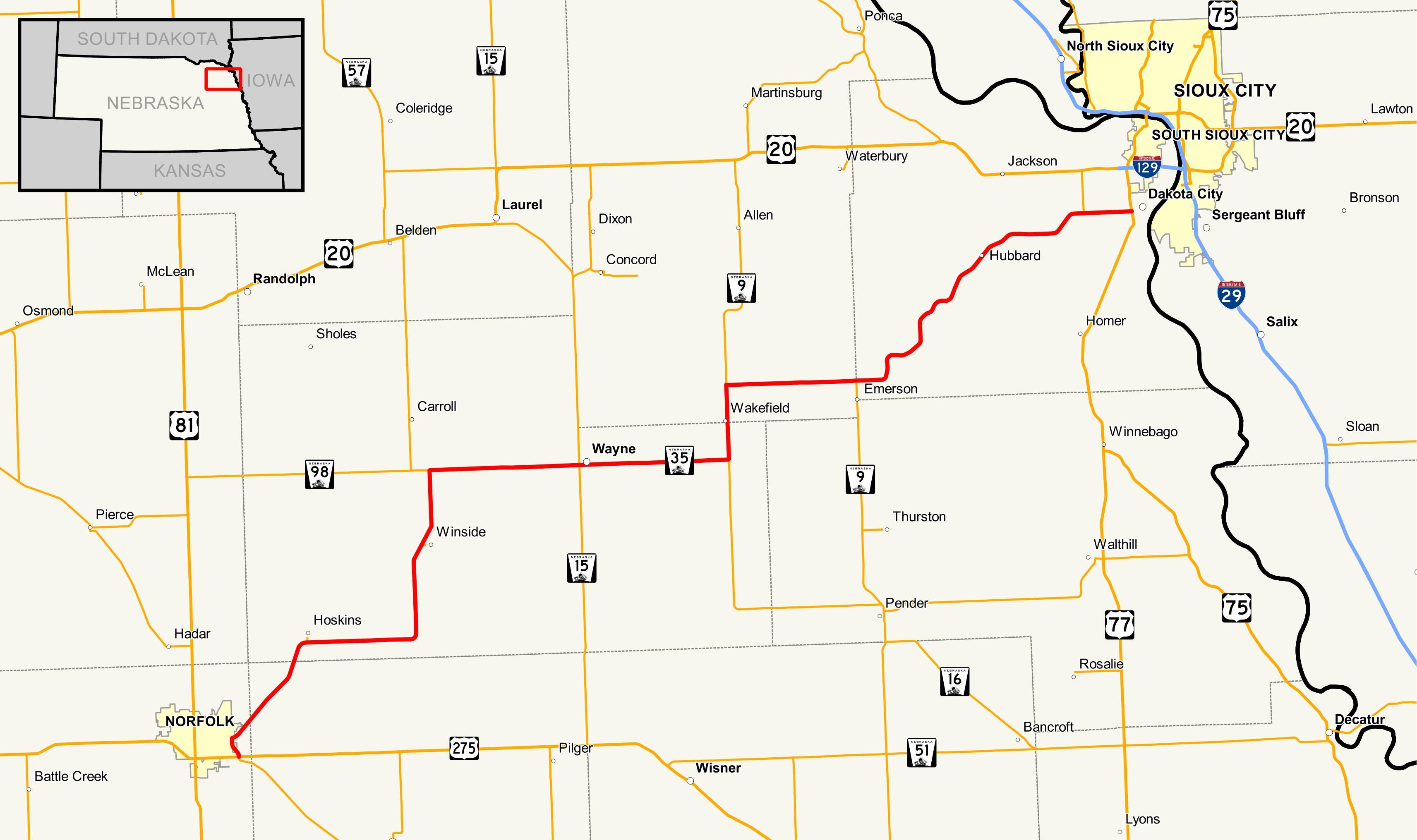 nebraska highway 35 - wikipedia