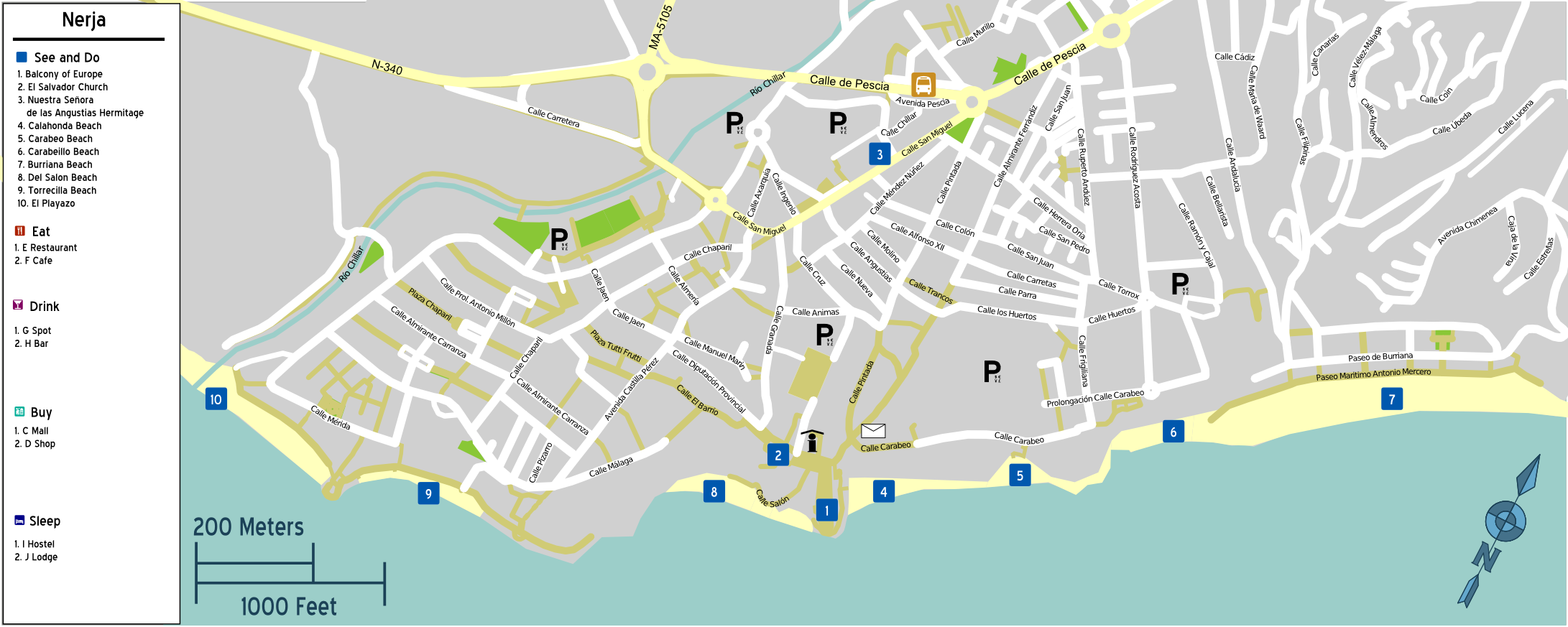 Map Of Nerja File:Nerja map.png   Wikimedia Commons Map Of Nerja
