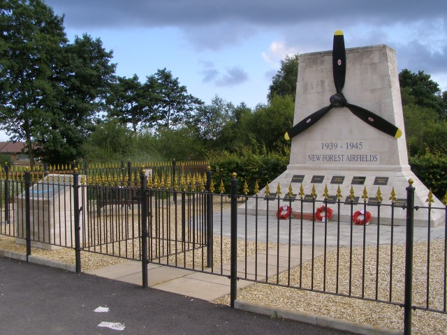 New Forest Airfields monument, Holmsley, New Forest - geograph.org.uk - 502696