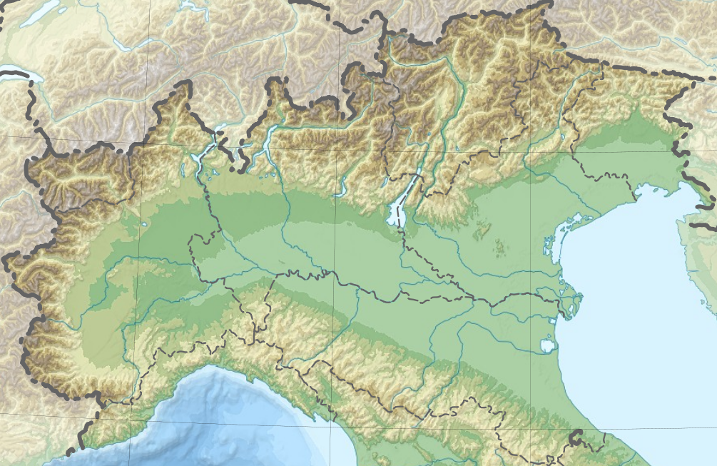 Worksheet. FileNorthern Italy topographic mapblankpng  Wikimedia Commons