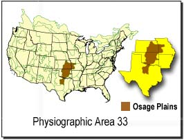 The Osage Plains extend through five U.S. states.