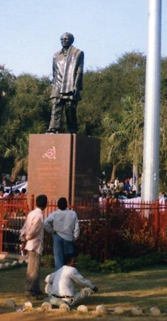 P. Sundarayya statue in Hyderabad