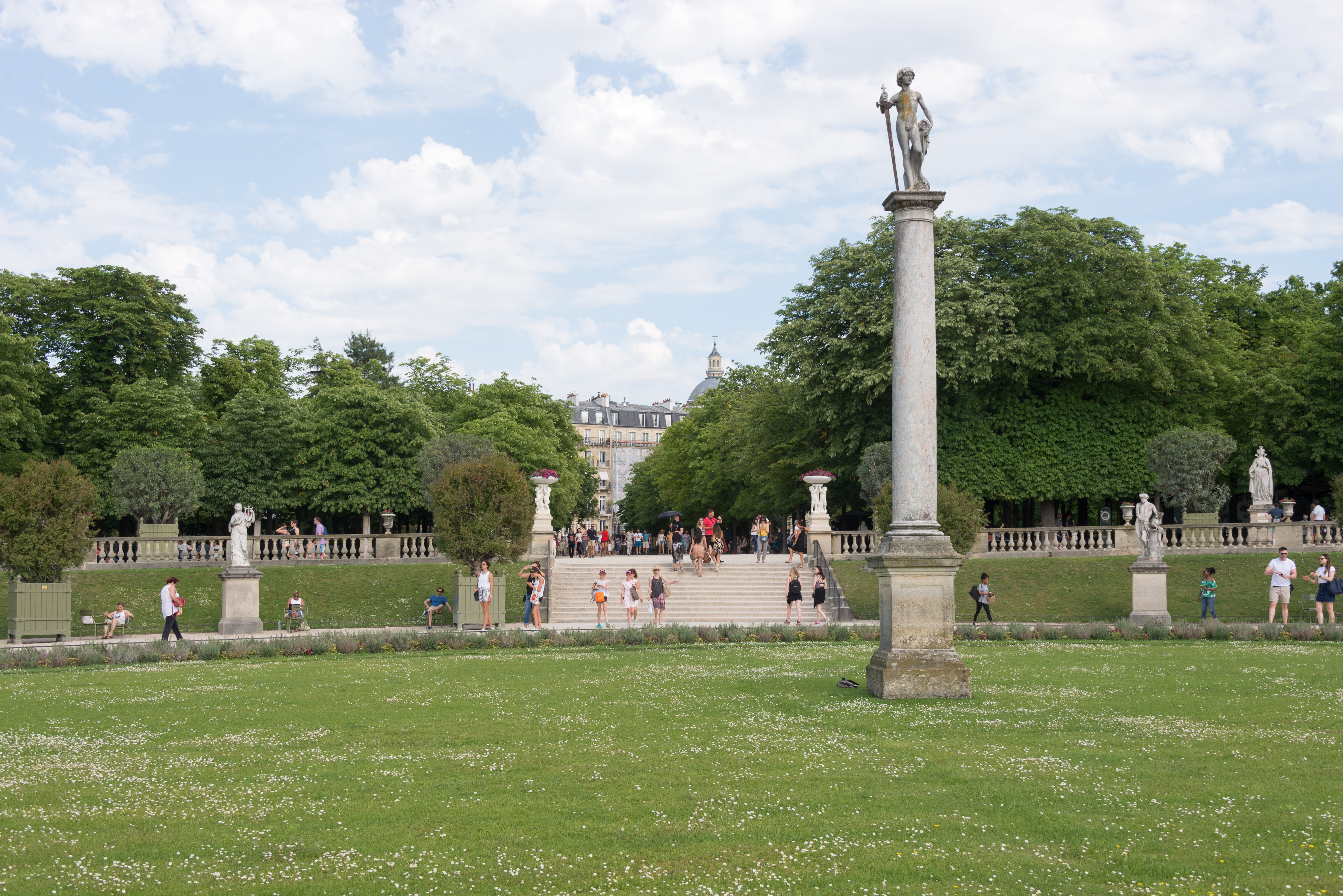 File Paris 75006 Jardin Du Luxembourg Fer A Cheval Parterre