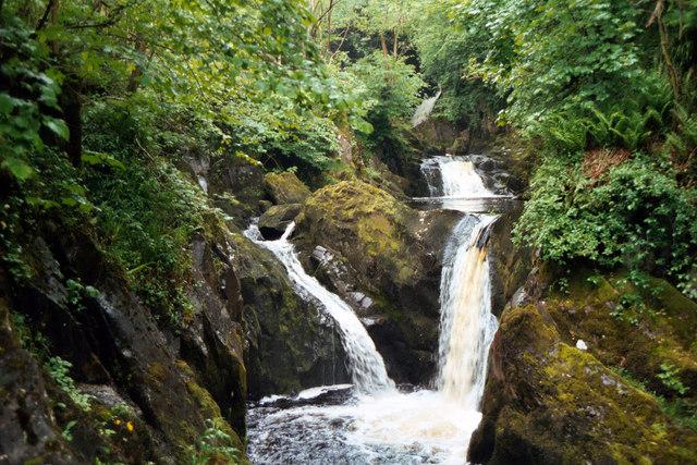 Pecca Falls, on the River Twiss, Ingleton - geograph.org.uk - 830344