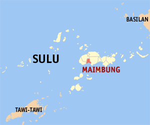Map of Sulu showing the location of Maimbung