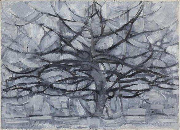 File:Piet Mondrian, 1911, Gray Tree (De grijze boom), oil on canvas, 79.7 x 109.1 cm, Gemeentemuseum Den Haag, Netherlands.jpg