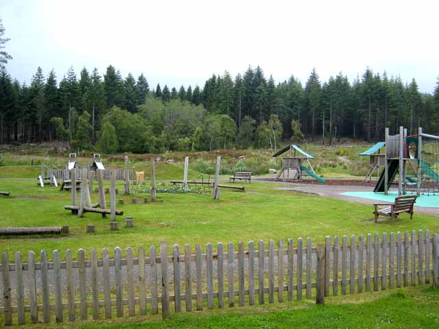 Playground at the Falls of Shin Visitor Centre - geograph.org.uk - 871801