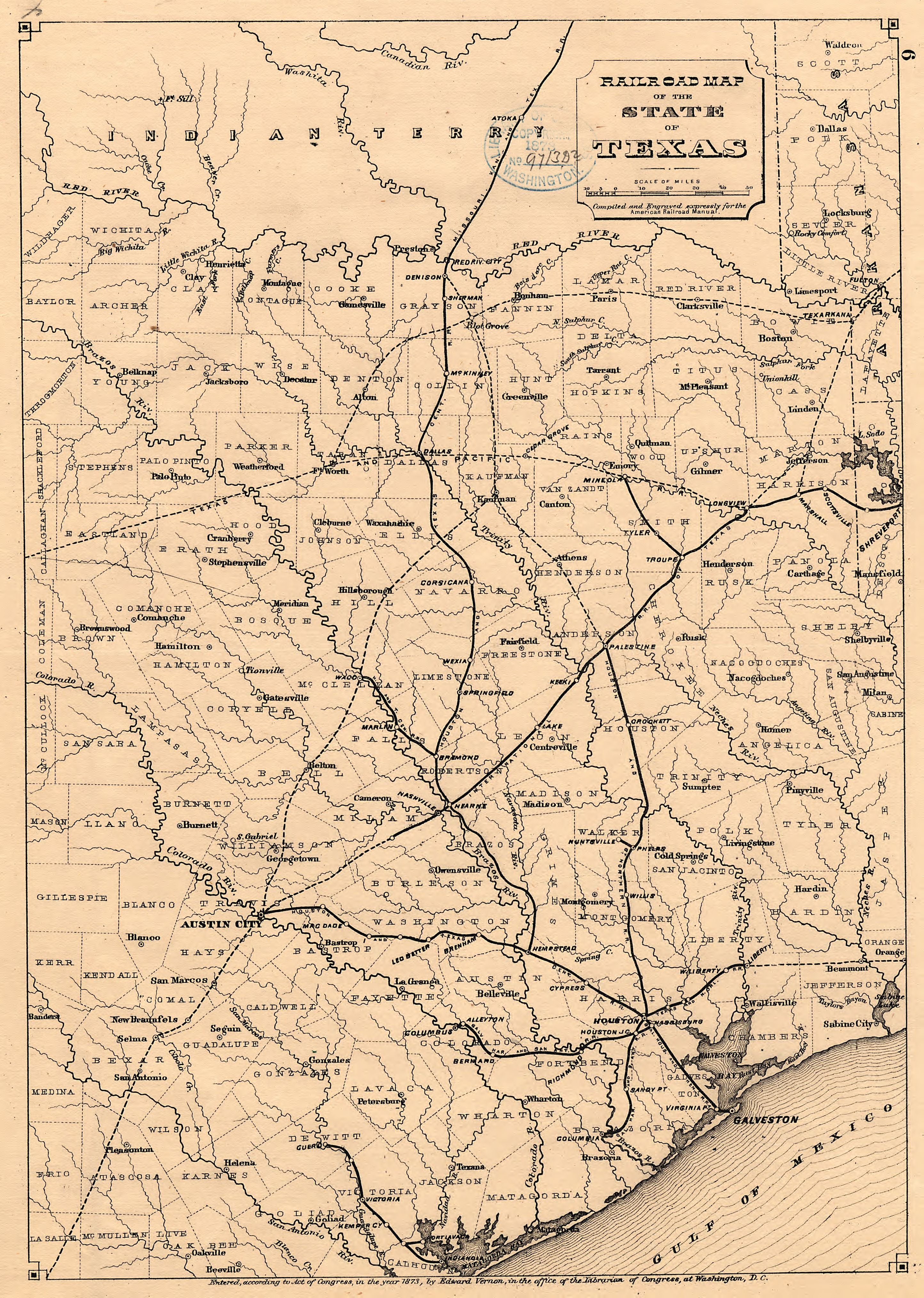 Railroad Map Of Texas.File Railroad Map Of The State Of Texas Loc 2001622095 Jpg