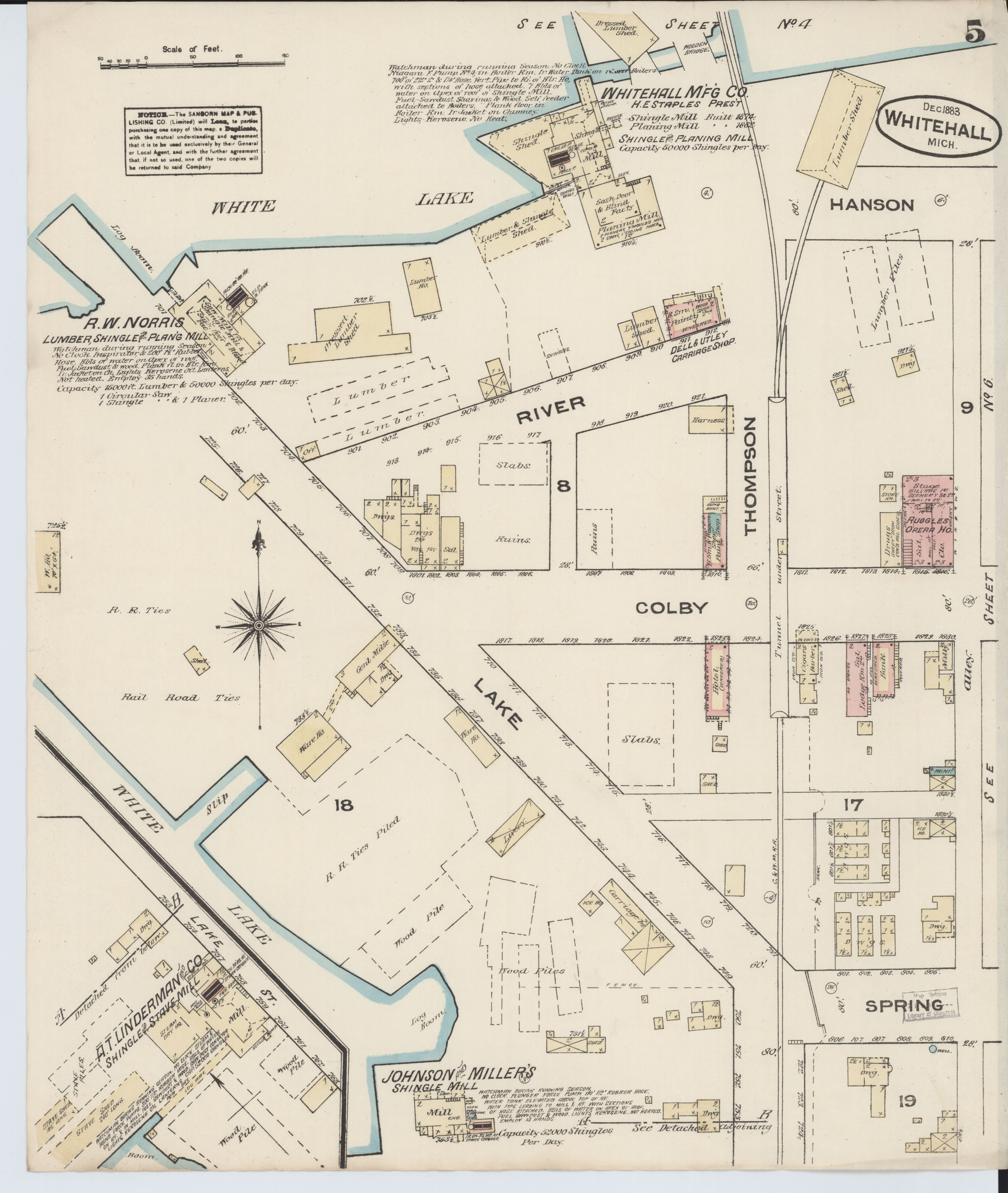 Sanborn Fire Map.File Sanborn Fire Insurance Map From Montague Muskegon County
