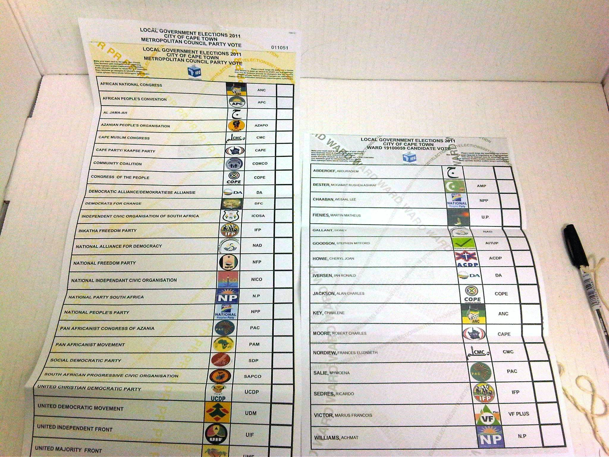 south african municipal elections  2011