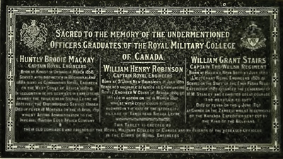 list of royal military college of canada memorials wikipedia