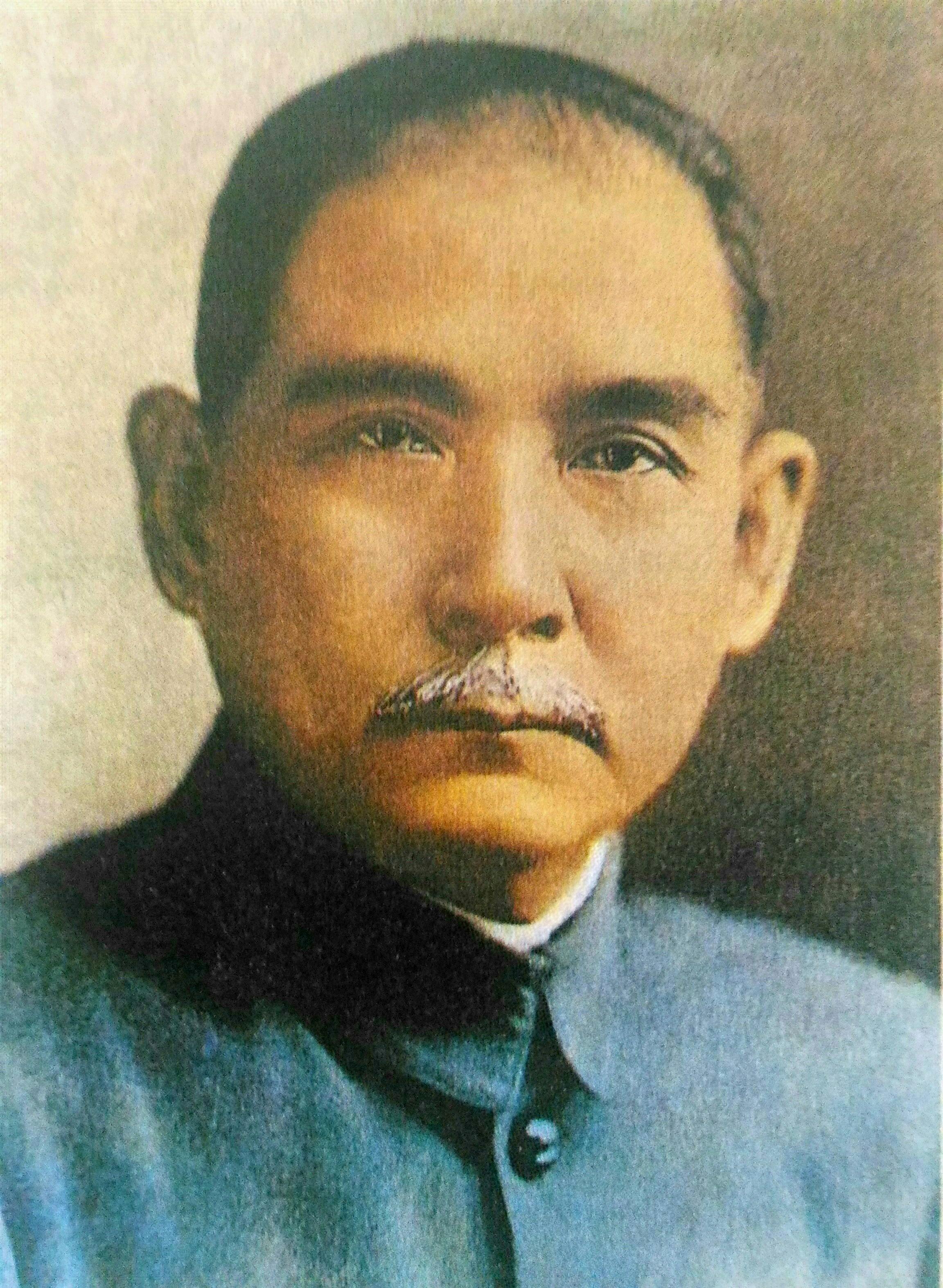這幅孫文肖像常被悬挂在台灣的各种公共場所