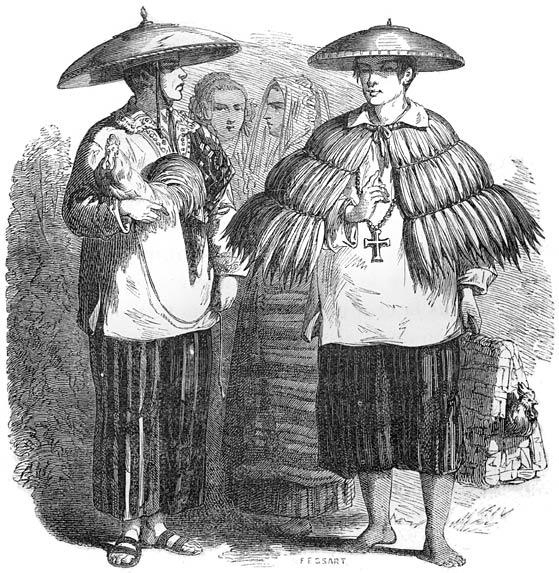 Tagalog dress, early 1800s