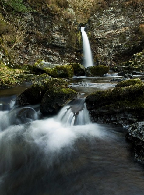 grey mares tail waterfall scotland