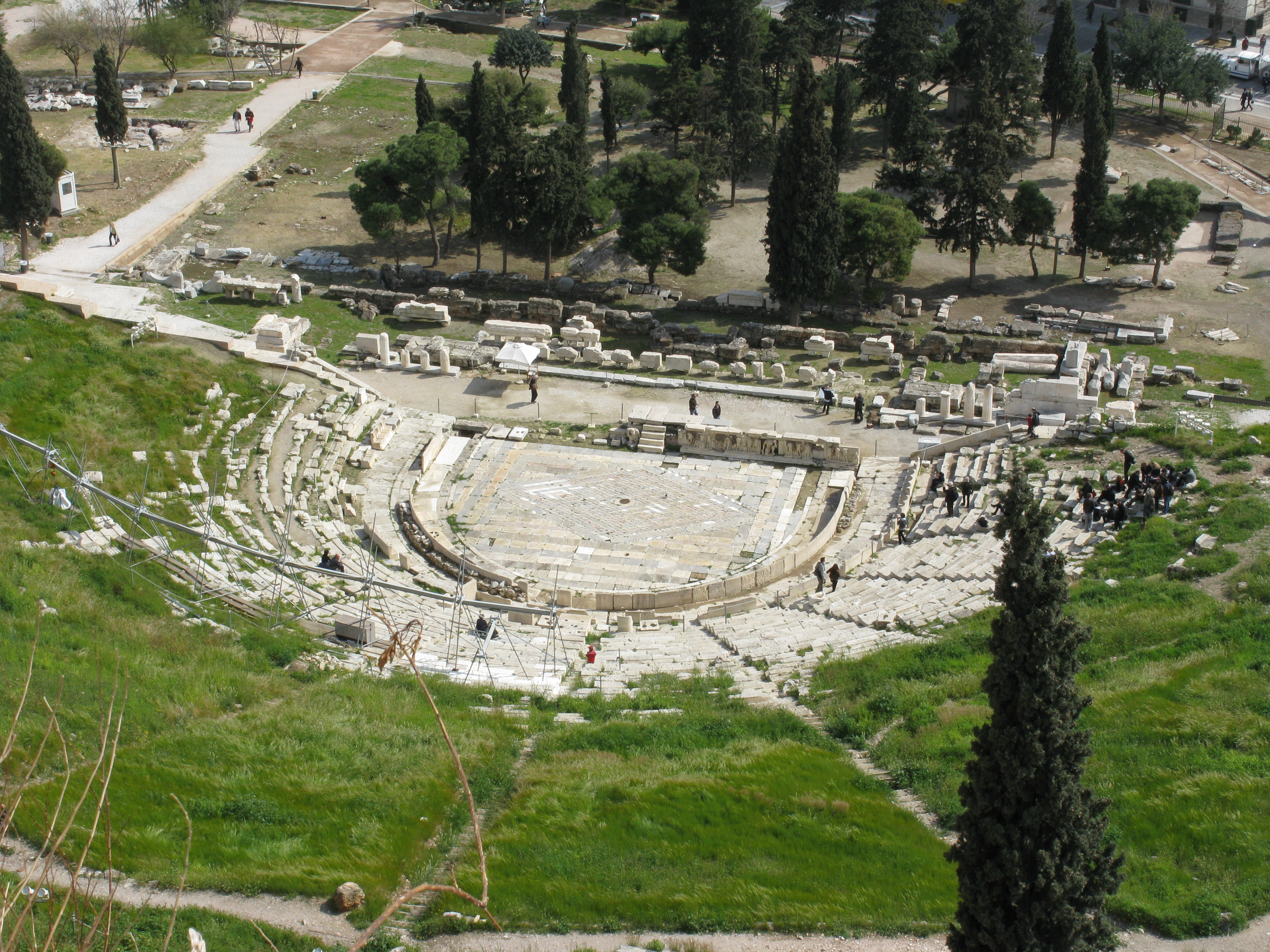 the theater of dionysus europe s first The theater of dionysus the theater of dionysus, built into the natural hollow of the south slope of the acropolis, was the world's first theater.
