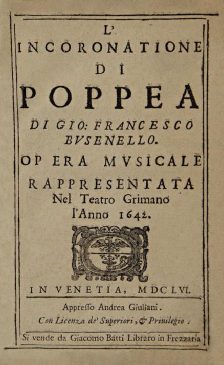 L'incoronazione di Poppea - Wikipedia