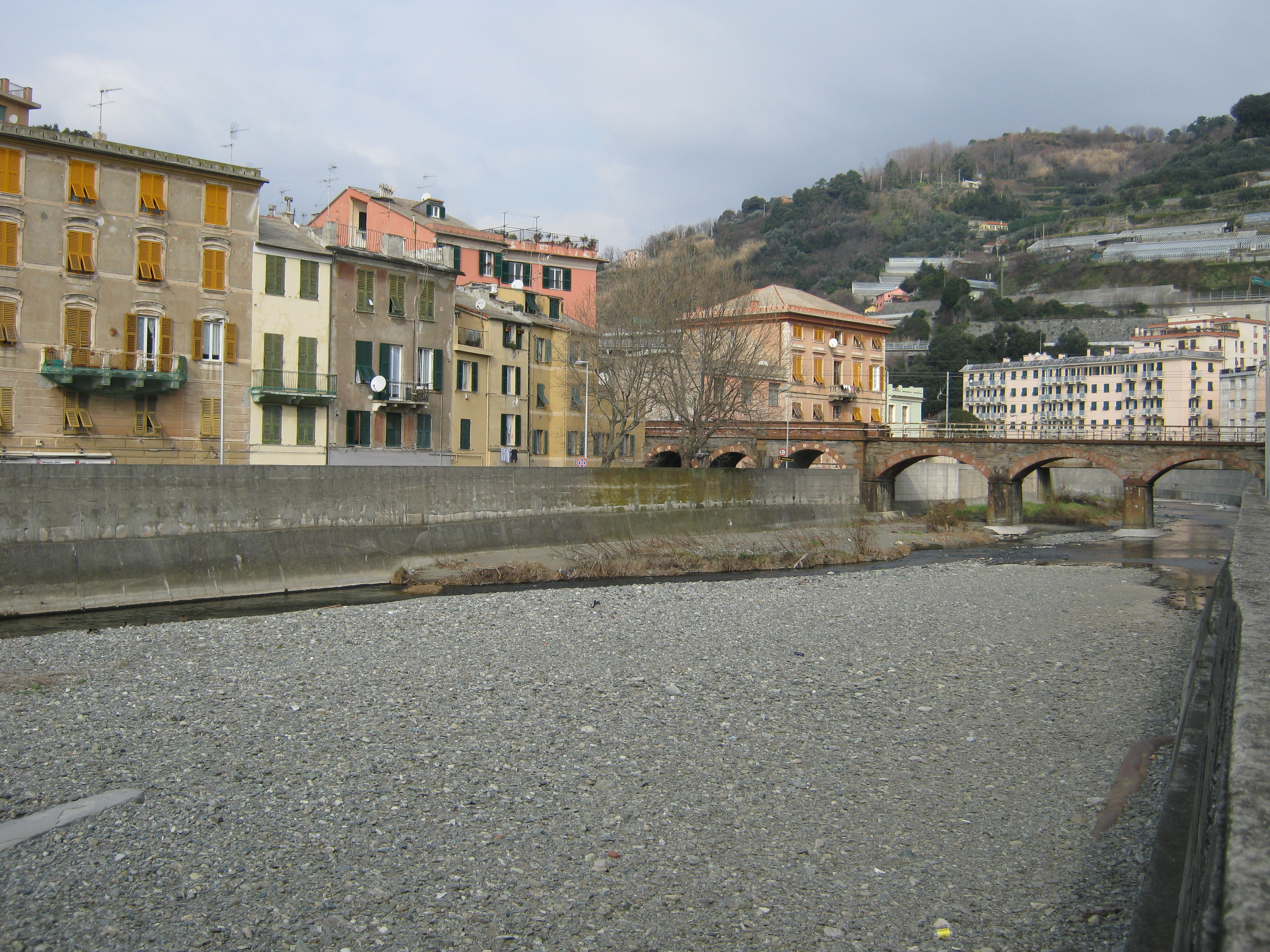 Il torrente Leira o Leiro presso la foce