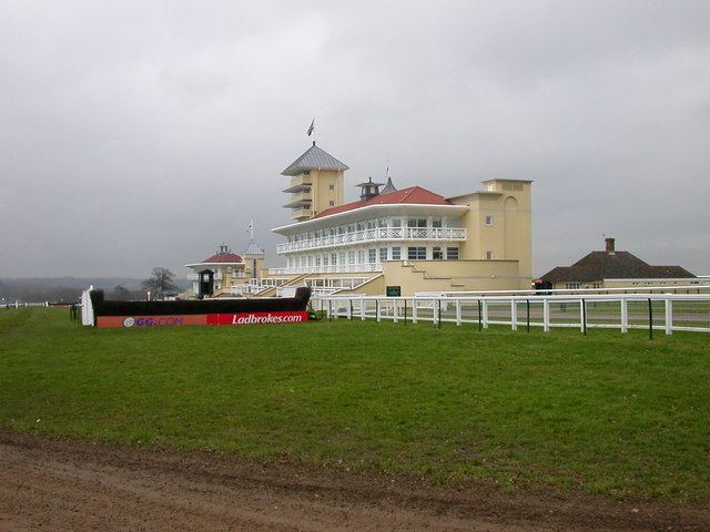 English: Towcester The Main stand at Towcester...