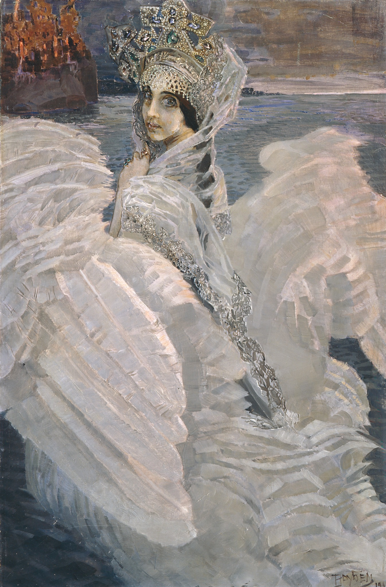 Mikhail Vrubel, The Swan Princess, 1900, Tretyakov Galley, Moscow, Russia.