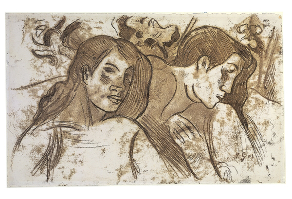 Two Marquesans monotype Gauguin