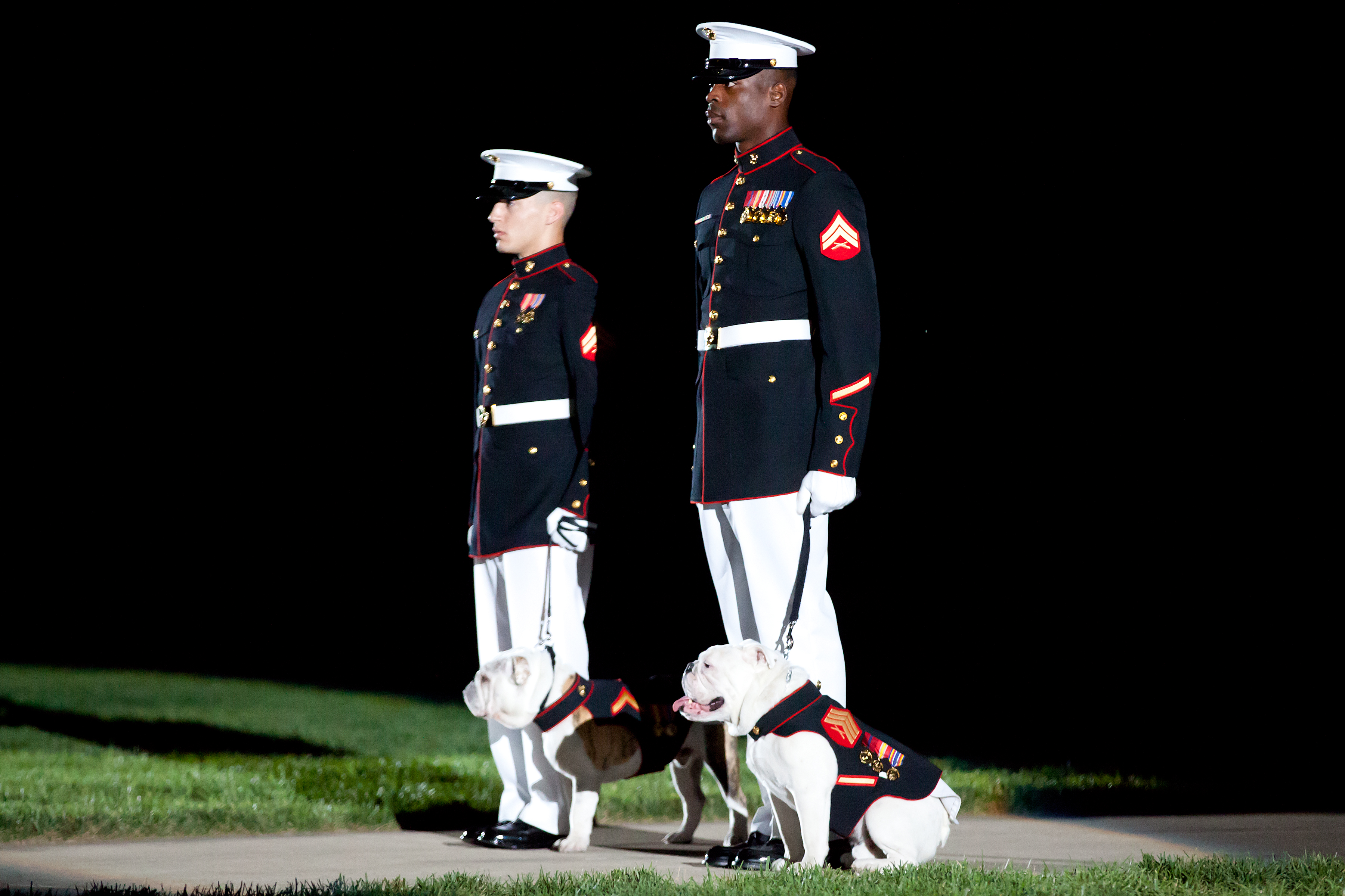 File:Two U.S. Marine Corps corporals escort the current ...