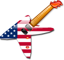 A guitar icon with the USA flag as the body (f...