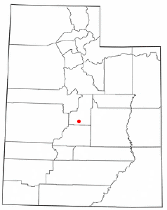 Location of Mayfield, Utah