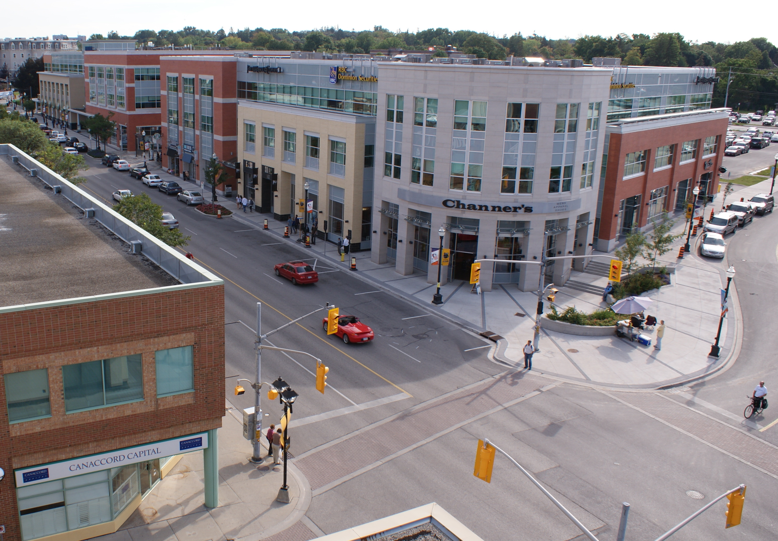 Uptown Waterloo, looking south down King Street.