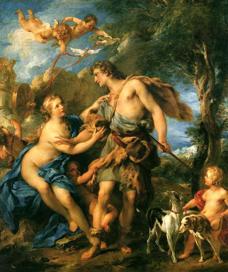 ونوس و آدونیس، توسط فرانسیس لیموین