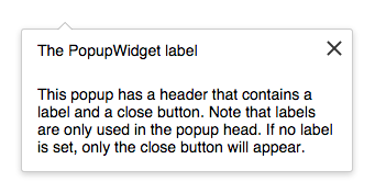 An example of a PopupWidget