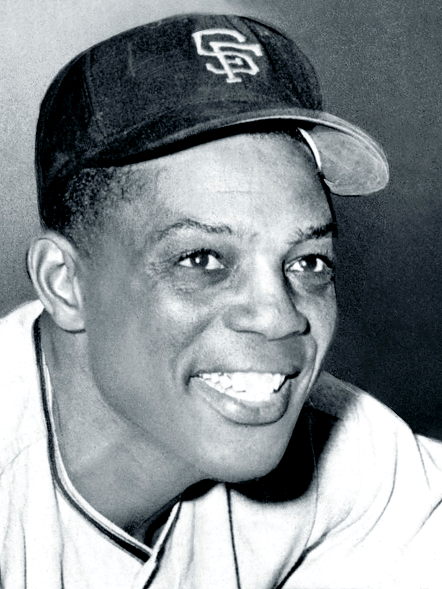 Original description: Willie Mays, standing, w...