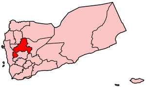 Map of Yemen showing Sanaá governorate.