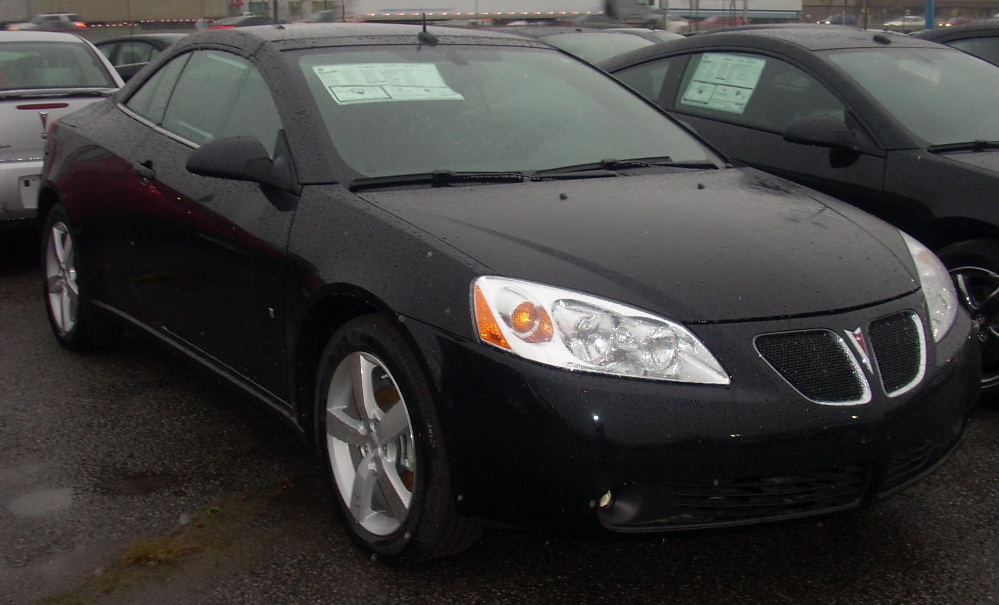 File 08 Pontiac G6 Convertible Jpg Wikimedia Commons