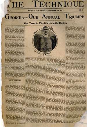 The front page of the first issue of The Technique 1911 Technique.jpg